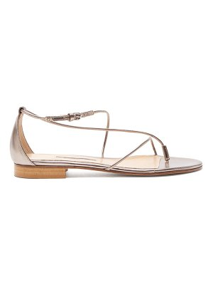 EMME PARSONS string metallic-leather sandals