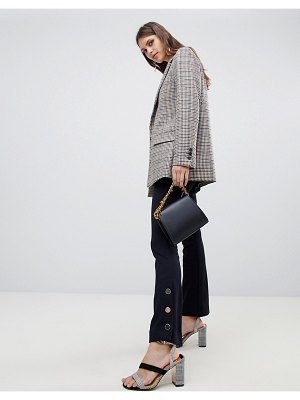 EMME portray pants with button detailing-navy