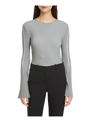 Emporio Armani bicolor bell sleeve ribbed sweater