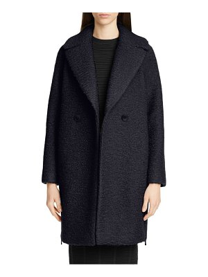 Emporio Armani boiled wool blend cocoon coat