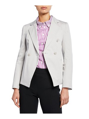 Emporio Armani Double-Breasted Stretch-Cotton Jacket