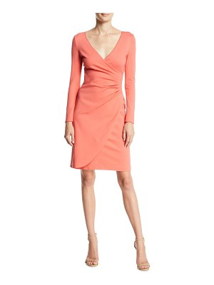 Emporio Armani Long-Sleeve Ruched Milano Jersey Dress