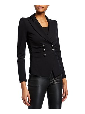 Emporio Armani Milano Jersey Faux Double-Breasted Jacket