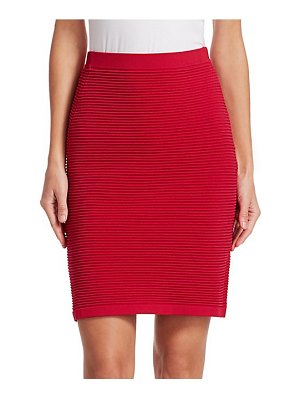 Emporio Armani ottoman-knit pencil skirt