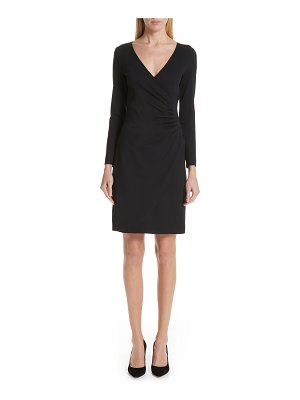 Emporio Armani punto milano faux wrap dress