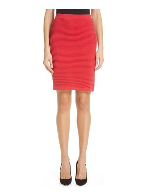 Emporio Armani rib knit pencil skirt