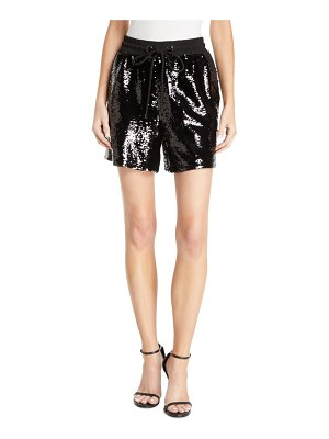 Emporio Armani Sequined Drawstring-Waist Shorts