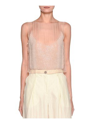 Emporio Armani Shimmer Embroidered Shell