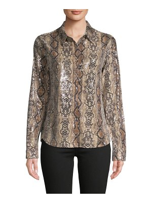 endless rose Embellished Python-Print Shirt