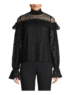 endless rose Lace Cotton-Blend Blouse