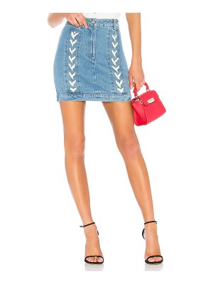 endless rose Lace Up Denim Skirt