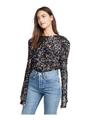 endless rose multi colored sequin top