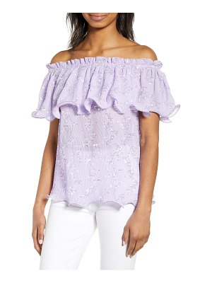 endless rose off the shoulder sequin top