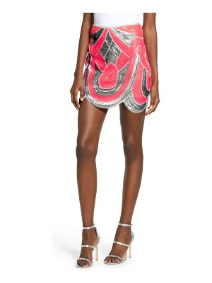 endless rose patterned sequin miniskirt