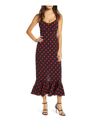 endless rose polka dot camisole maxi dress