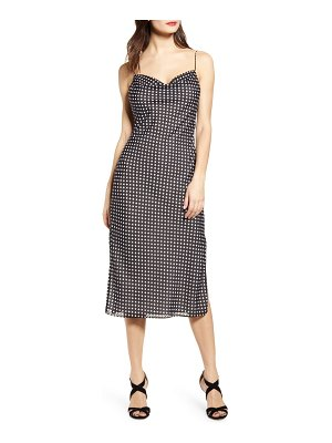 endless rose polka dot midi dress