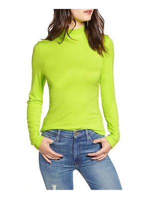 endless rose ribbed mock neck top