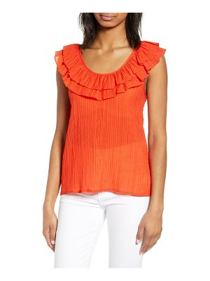 endless rose ruffle scoop neck top