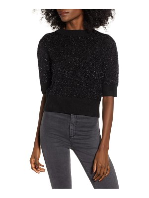endless rose sparkle crop sweater