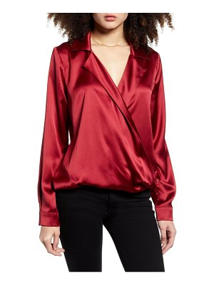endless rose wrap front blouse