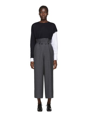 Enfold grey layered trousers