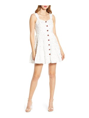 ENGLISH FACTORY button-up cotton fit & flare dress