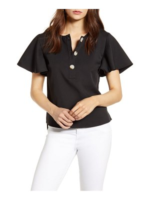 ENGLISH FACTORY flutter sleeve henley top