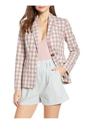 ENGLISH FACTORY gingham check blazer