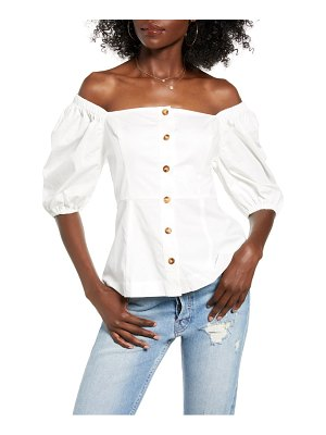 ENGLISH FACTORY off the shoulder cotton top