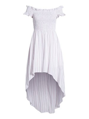 ENGLISH FACTORY off the shoulder high/low dress