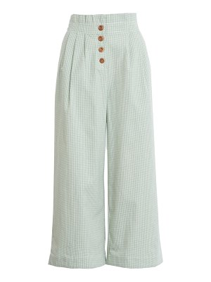 ENGLISH FACTORY pleated crop trousers