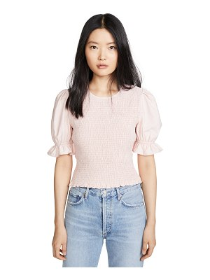 ENGLISH FACTORY smocked puff sleeve top