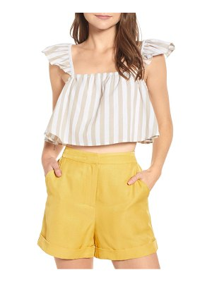 ENGLISH FACTORY stripe crop top