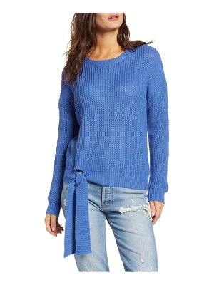ENGLISH FACTORY tie hem ribbed sweater