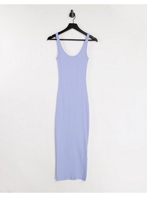 Envii ally cami midi jersey dress in pale blue-green