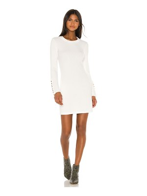 Enza Costa button cuff mini dress