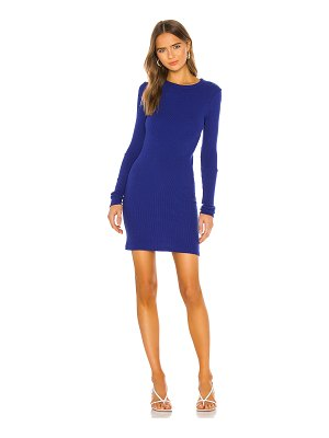 Enza Costa cashmere blend thermal cuffed mini dress
