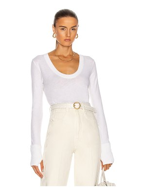 Enza Costa cashmere easy cuffed u top