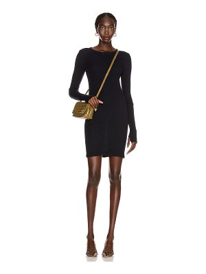 Enza Costa cashmere thermal cuffed mini dress