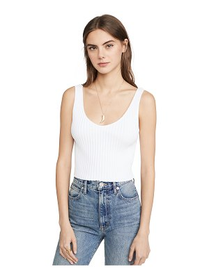 Enza Costa cropped scoop sweater tank
