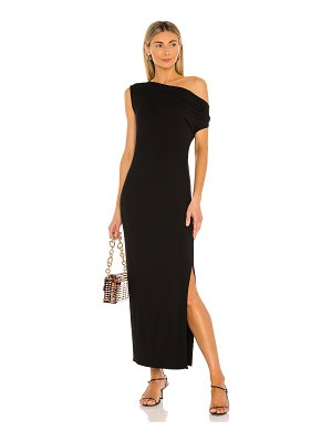 Enza Costa exposed shoulder maxi dress