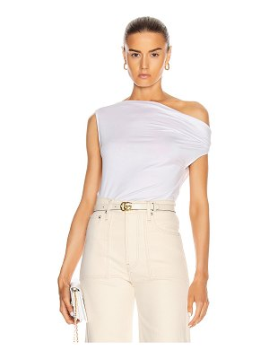 Enza Costa for fwrd silk jersey off shoulder top