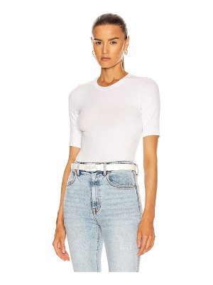 Enza Costa for fwrd silk rib cropped half sleeve