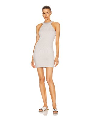 Enza Costa luxe rib halter mini dress