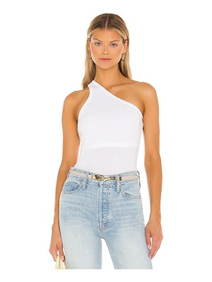 Enza Costa recycled rib one shoulder tank