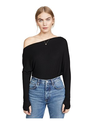 Enza Costa rib off shoulder top