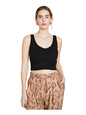 Enza Costa rib sweater knit cropped scoop tank