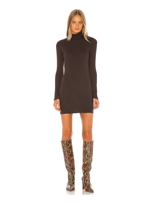 Enza Costa rib turtleneck mini dress