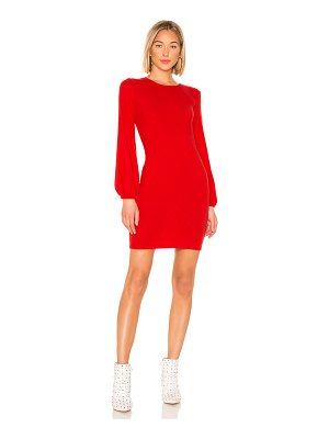 Enza Costa Rib Volume Sleeve Mini Dress