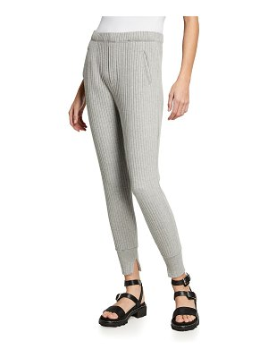 Enza Costa Ribbed Sweater Knit Jogger Pants